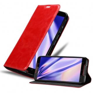 Cadorabo Hülle für Cubot QUEST in APFEL ROT Handyhülle mit Magnetverschluss, Standfunktion und Kartenfach Case Cover Schutzhülle Etui Tasche Book Klapp Style