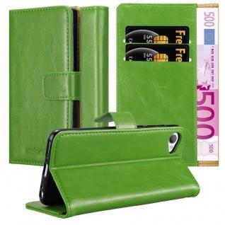 Cadorabo Hülle für HTC Desire 12 in GRAS GRÜN Handyhülle mit Magnetverschluss, Standfunktion und Kartenfach Case Cover Schutzhülle Etui Tasche Book Klapp Style