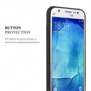 Cadorabo Hülle für Samsung Galaxy J5 2015 in FROST SCHWARZ - Handyhülle aus flexiblem TPU Silikon - Silikonhülle Schutzhülle Ultra Slim Soft Back Cover Case Bumper - Vorschau 4