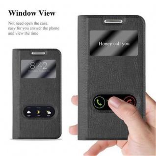 Cadorabo Hülle für Samsung Galaxy S4 MINI in KOMETEN SCHWARZ - Handyhülle mit Magnetverschluss, Standfunktion und 2 Sichtfenstern - Case Cover Schutzhülle Etui Tasche Book Klapp Style - Vorschau 2