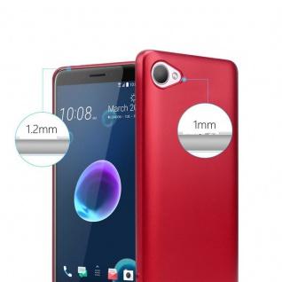 Cadorabo Hülle für HTC Desire 12 in METALLIC ROT - Handyhülle aus flexiblem TPU Silikon - Silikonhülle Schutzhülle Ultra Slim Soft Back Cover Case Bumper - Vorschau 4