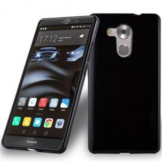 Cadorabo Hülle für Huawei MATE 8 in SCHWARZ - Handyhülle aus flexiblem TPU Silikon - Silikonhülle Schutzhülle Ultra Slim Soft Back Cover Case Bumper