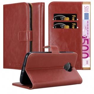 Cadorabo Hülle für Motorola MOTO G5S PLUS in WEIN ROT ? Handyhülle mit Magnetverschluss, Standfunktion und Kartenfach ? Case Cover Schutzhülle Etui Tasche Book Klapp Style