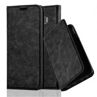 Cadorabo Hülle für Samsung Galaxy S8 PLUS in NACHT SCHWARZ - Handyhülle mit Magnetverschluss, Standfunktion und Kartenfach - Case Cover Schutzhülle Etui Tasche Book Klapp Style
