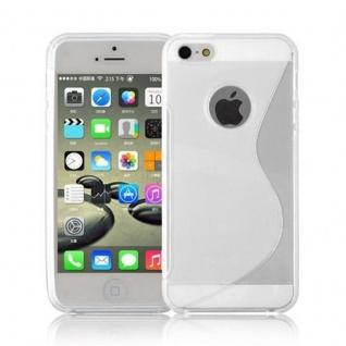 Cadorabo Hülle für Apple iPhone 5 / iPhone 5S / iPhone SE in HALB TRANSPARENT ? Handyhülle aus flexiblem TPU Silikon ? Silikonhülle Schutzhülle Ultra Slim Soft Back Cover Case Bumper