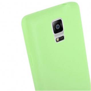 Cadorabo Hülle für Samsung Galaxy NOTE 4 in CANDY PASTELL GRÜN - Handyhülle aus flexiblem TPU Silikon - Silikonhülle Schutzhülle Ultra Slim Soft Back Cover Case Bumper - Vorschau 5