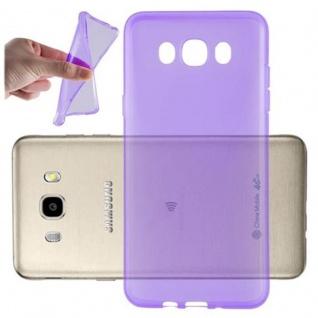 Cadorabo Hülle für Samsung Galaxy J7 2016 in TRANSPARENT LILA - Handyhülle aus flexiblem TPU Silikon - Silikonhülle Schutzhülle Ultra Slim Soft Back Cover Case Bumper