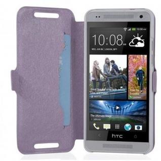 Cadorabo Hülle für HTC ONE MINI M4 (1.Gen.) - Hülle in ICY FLIEDER - Handyhülle mit Standfunktion und Kartenfach im Ultra Slim Design - Case Cover Schutzhülle Etui Tasche Book - Vorschau 2