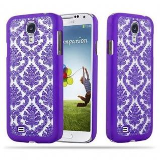 Samsung Galaxy S4 Hardcase Hülle in LILA von Cadorabo - Blumen Paisley Henna Design Schutzhülle ? Handyhülle Bumper Back Case Cover