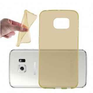Cadorabo Hülle für Samsung Galaxy S6 EDGE in TRANSPARENT GOLD - Handyhülle aus flexiblem TPU Silikon - Silikonhülle Schutzhülle Ultra Slim Soft Back Cover Case Bumper