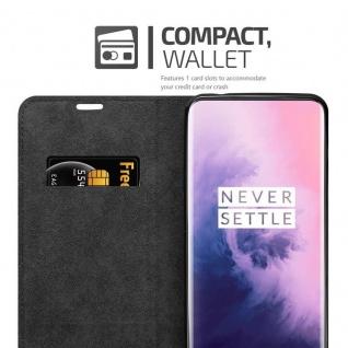 Cadorabo Hülle für OnePlus 7 PRO in APFEL ROT Handyhülle mit Magnetverschluss, Standfunktion und Kartenfach Case Cover Schutzhülle Etui Tasche Book Klapp Style - Vorschau 4