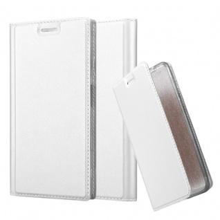 Cadorabo Hülle für Sony Xperia XZ / XZs in CLASSY SILBER - Handyhülle mit Magnetverschluss, Standfunktion und Kartenfach - Case Cover Schutzhülle Etui Tasche Book Klapp Style
