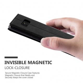 Cadorabo Hülle für Samsung Galaxy NOTE 8 in NACHT SCHWARZ - Handyhülle mit Magnetverschluss, Standfunktion und Kartenfach - Case Cover Schutzhülle Etui Tasche Book Klapp Style - Vorschau 4