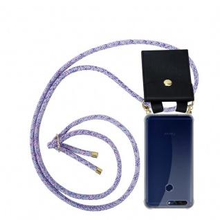 Cadorabo Handy Kette für Honor 8 PRO in UNICORN Silikon Necklace Umhänge Hülle mit Gold Ringen, Kordel Band Schnur und abnehmbarem Etui Schutzhülle