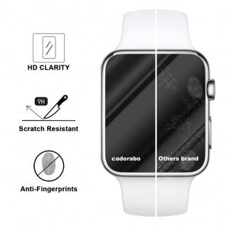 Cadorabo Panzer Folie für Apple Watch Series 1 & 2 42mm Schutzfolie in KRISTALL KLAR Gehärtetes (Tempered) Display-Schutzglas in 9H Härte mit 3D Touch Kompatibilität - Vorschau 3