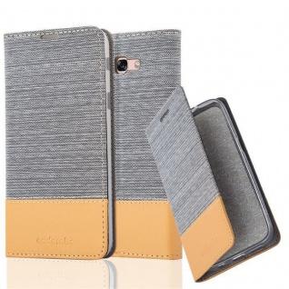Cadorabo Hülle für Samsung Galaxy A7 2017 in HELL GRAU BRAUN - Handyhülle mit Magnetverschluss, Standfunktion und Kartenfach - Case Cover Schutzhülle Etui Tasche Book Klapp Style