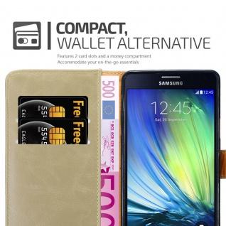 Cadorabo Hülle für Samsung Galaxy A7 2015 in CAPPUCCINO BRAUN - Handyhülle mit Magnetverschluss, Standfunktion und Kartenfach - Case Cover Schutzhülle Etui Tasche Book Klapp Style - Vorschau 5