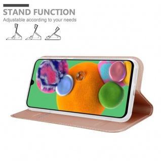 Cadorabo Hülle für Samsung Galaxy A90 5G in CLASSY ROSÉ GOLD - Handyhülle mit Magnetverschluss, Standfunktion und Kartenfach - Case Cover Schutzhülle Etui Tasche Book Klapp Style - Vorschau 2