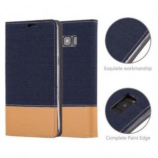 Cadorabo Hülle für Samsung Galaxy S8 in DUNKEL BLAU BRAUN - Handyhülle mit Magnetverschluss, Standfunktion und Kartenfach - Case Cover Schutzhülle Etui Tasche Book Klapp Style - Vorschau 2