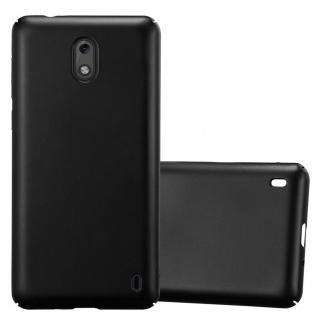Cadorabo Hülle für Nokia 2 2017 in METALL SCHWARZ - Hardcase Handyhülle aus Plastik gegen Kratzer und Stöße - Schutzhülle Bumper Ultra Slim Back Case Hard Cover