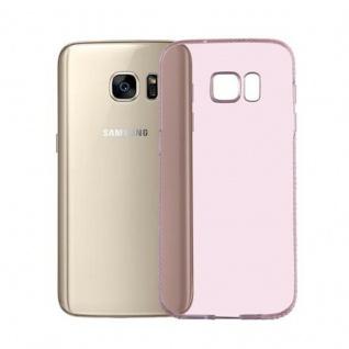 Cadorabo Hülle für Samsung Galaxy S7 - Hülle in TRANSPARENT ROSA ? Handyhülle aus TPU Silikon im Strass Design - Silikonhülle Schutzhülle Ultra Slim Soft Back Cover Case Bumper - Vorschau 3