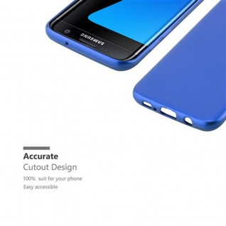 Cadorabo Hülle für Samsung Galaxy S7 EDGE in METALLIC BLAU - Handyhülle aus flexiblem TPU Silikon - Silikonhülle Schutzhülle Ultra Slim Soft Back Cover Case Bumper - Vorschau 2