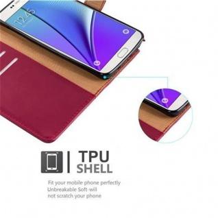 Cadorabo Hülle für Samsung Galaxy NOTE 5 in WEIN ROT ? Handyhülle mit Magnetverschluss, Standfunktion und Kartenfach ? Case Cover Schutzhülle Etui Tasche Book Klapp Style - Vorschau 4