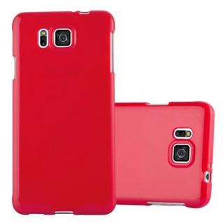 Cadorabo Hülle für Samsung Galaxy ALPHA in JELLY ROT ? Handyhülle aus flexiblem TPU Silikon ? Silikonhülle Schutzhülle Ultra Slim Soft Back Cover Case Bumper