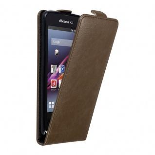 Cadorabo Hülle für Sony Xperia Z1 COMPACT in KAFFEE BRAUN - Handyhülle im Flip Design mit unsichtbarem Magnetverschluss - Case Cover Schutzhülle Etui Tasche Book Klapp Style