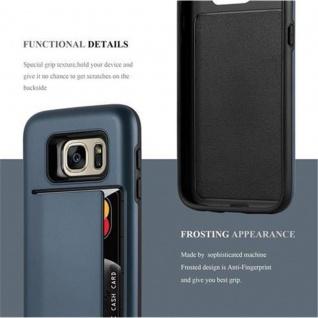 Cadorabo Hülle für Samsung Galaxy S7 - Hülle in ARMOR DUNKEL BLAU ? Handyhülle mit Kartenfach - Hard Case TPU Silikon Schutzhülle für Hybrid Cover im Outdoor Heavy Duty Design - Vorschau 3