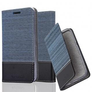Cadorabo Hülle für BQ Aquaris X5 in DUNKEL BLAU SCHWARZ - Handyhülle mit Magnetverschluss, Standfunktion und Kartenfach - Case Cover Schutzhülle Etui Tasche Book Klapp Style