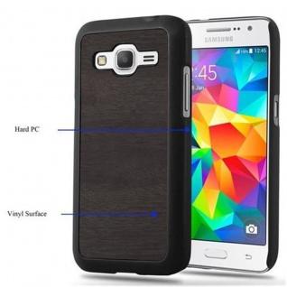 Cadorabo Hülle für Samsung Galaxy CORE PRIME in WOODY SCHWARZ ? Hardcase Handyhülle aus Plastik gegen Kratzer und Stöße ? Schutzhülle Bumper Ultra Slim Back Case Hard Cover - Vorschau 5