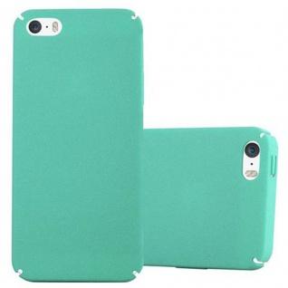 Cadorabo Hülle für Apple iPhone 5 / iPhone 5S / iPhone SE in FROSTY GRÜN - Hardcase Handyhülle aus Plastik gegen Kratzer und Stöße - Schutzhülle Bumper Ultra Slim Back Case Hard Cover - Vorschau 1