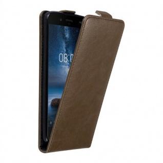 Cadorabo Hülle für Nokia 8 2017 in KAFFEE BRAUN - Handyhülle im Flip Design mit unsichtbarem Magnetverschluss - Case Cover Schutzhülle Etui Tasche Book Klapp Style