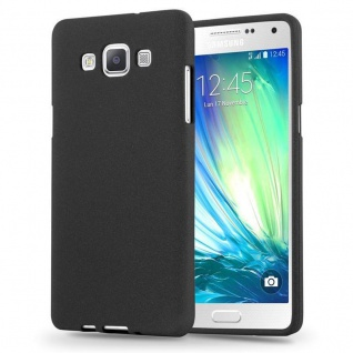 Cadorabo Hülle für Samsung Galaxy A3 2015 in FROST SCHWARZ - Handyhülle aus flexiblem TPU Silikon - Silikonhülle Schutzhülle Ultra Slim Soft Back Cover Case Bumper