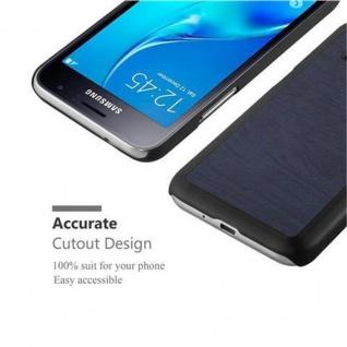 Cadorabo Hülle für Samsung Galaxy J1 2016 in WOODY BLAU ? Hardcase Handyhülle aus Plastik gegen Kratzer und Stöße ? Schutzhülle Bumper Ultra Slim Back Case Hard Cover - Vorschau 5