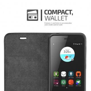 Cadorabo Hülle für ZTE BLADE A520 in APFEL ROT Handyhülle mit Magnetverschluss, Standfunktion und Kartenfach Case Cover Schutzhülle Etui Tasche Book Klapp Style - Vorschau 5