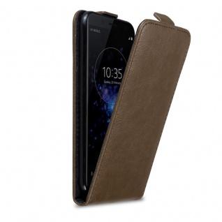 Cadorabo Hülle für Sony Xperia XZ2 COMPACT in KAFFEE BRAUN - Handyhülle im Flip Design mit Magnetverschluss - Case Cover Schutzhülle Etui Tasche Book Klapp Style