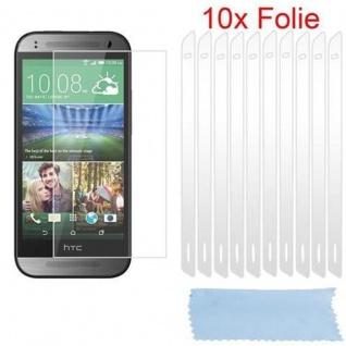 Cadorabo Displayschutzfolien für HTC ONE M8 MINI (2.Gen.) - Schutzfolien in HIGH CLEAR ? 10 Stück hochtransparenter Schutzfolien gegen Staub, Schmutz und Kratzer