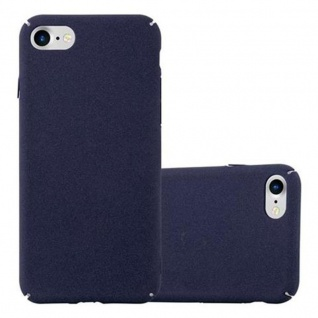 Cadorabo Hülle für Apple iPhone 7 / iPhone 7S / iPhone 8 in FROSTY BLAU - Hardcase Handyhülle aus Plastik gegen Kratzer und Stöße - Schutzhülle Bumper Ultra Slim Back Case Hard Cover