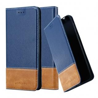 Cadorabo Hülle für Nokia 8 2017 in DUNKEL BLAU BRAUN ? Handyhülle mit Magnetverschluss, Standfunktion und Kartenfach ? Case Cover Schutzhülle Etui Tasche Book Klapp Style