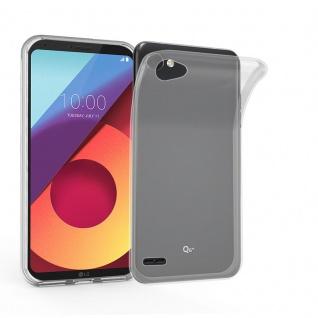 Cadorabo Hülle für LG Q6 in VOLL TRANSPARENT - Handyhülle aus flexiblem TPU Silikon - Silikonhülle Schutzhülle Ultra Slim Soft Back Cover Case Bumper