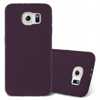 Cadorabo Hülle für Samsung Galaxy S6 in FROST BORDEAUX LILA - Handyhülle aus flexiblem TPU Silikon - Silikonhülle Schutzhülle Ultra Slim Soft Back Cover Case Bumper