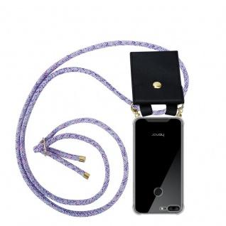 Cadorabo Handy Kette für Honor 9 LITE in UNICORN Silikon Necklace Umhänge Hülle mit Gold Ringen, Kordel Band Schnur und abnehmbarem Etui Schutzhülle