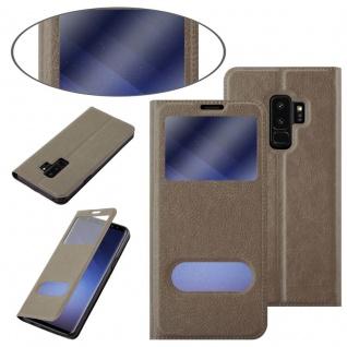 Cadorabo Hülle für Samsung Galaxy S9 PLUS in STEIN BRAUN ? Handyhülle mit Magnetverschluss, Standfunktion und 2 Sichtfenstern ? Case Cover Schutzhülle Etui Tasche Book Klapp Style - Vorschau 3