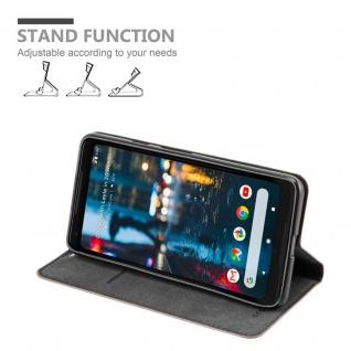 Cadorabo Hülle für Google Pixel 2 XL in KAFFEE BRAUN - Handyhülle mit Magnetverschluss, Standfunktion und Kartenfach - Case Cover Schutzhülle Etui Tasche Book Klapp Style - Vorschau 3