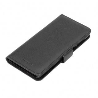 Cadorabo Hülle für Nokia 5 2017 in OXID SCHWARZ ? Handyhülle mit Magnetverschluss und 3 Kartenfächern ? Case Cover Schutzhülle Etui Tasche Book Klapp Style - Vorschau 4