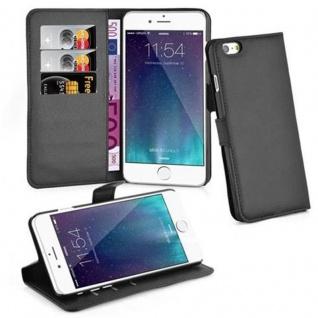 Cadorabo ! PREMIUM - Book Style Hülle im Portemonnaie Design für Apple Iphone 6 PLUS mit Standfunktion in PHANTOM-SCHWARZ