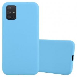 Cadorabo Hülle für Samsung Galaxy A71 in CANDY BLAU Handyhülle aus flexiblem TPU Silikon Silikonhülle Schutzhülle Ultra Slim Soft Back Cover Case Bumper