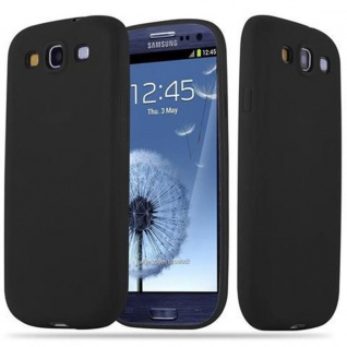 Cadorabo Hülle für Samsung Galaxy S3 / S3 NEO in CANDY SCHWARZ - Handyhülle aus flexiblem TPU Silikon - Silikonhülle Schutzhülle Ultra Slim Soft Back Cover Case Bumper